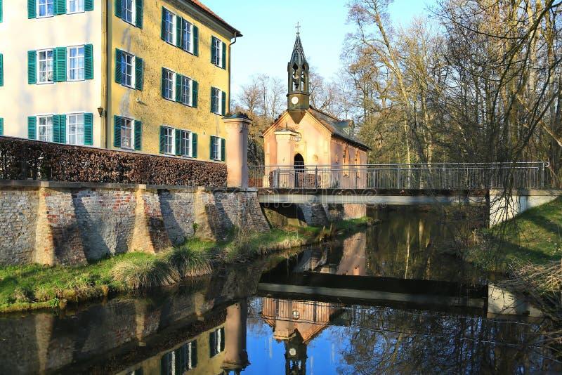 Sisi Castle σε Unterwittelsbach, Γερμανία στοκ εικόνα