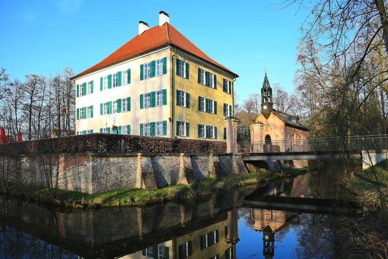 Sisi Castle σε Unterwittelsbach, Γερμανία στοκ φωτογραφία