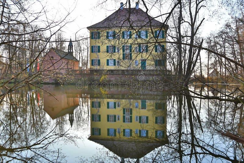Sisi-Schloss in Unterwittelsbach, Deutschland stockbilder