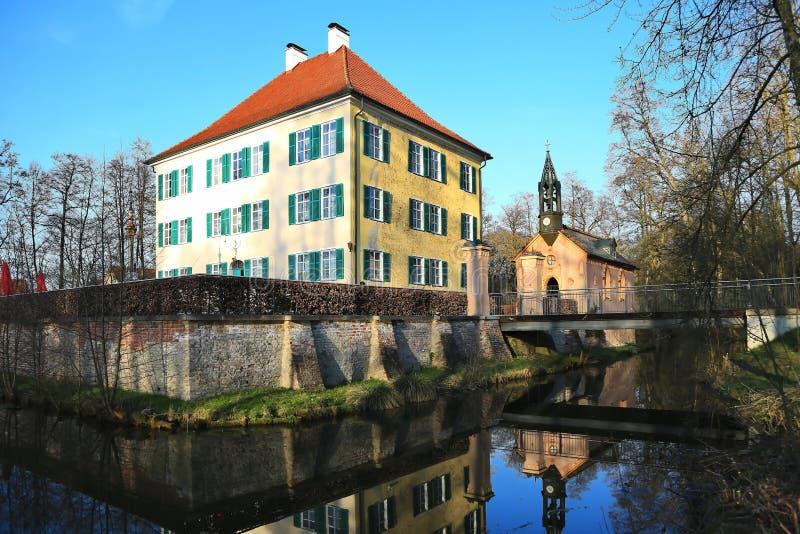 Sisi-Schloss in Unterwittelsbach, Deutschland stockfotografie