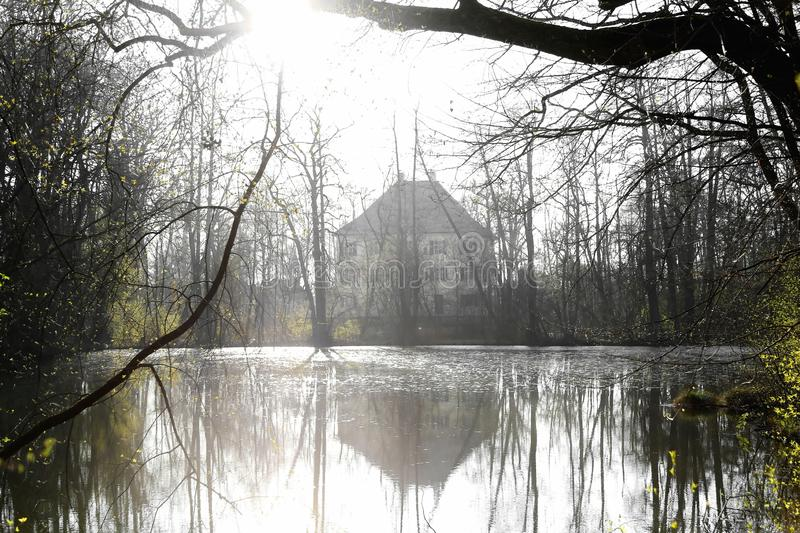 Sisi-Schloss in Unterwittelsbach, Deutschland lizenzfreies stockfoto