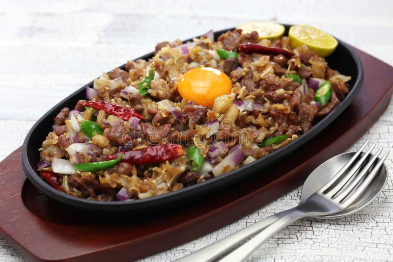 Sisig de porc, cuisine philippine image libre de droits