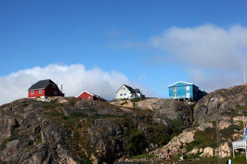 Sisimiut στη Γροιλανδία στοκ εικόνες
