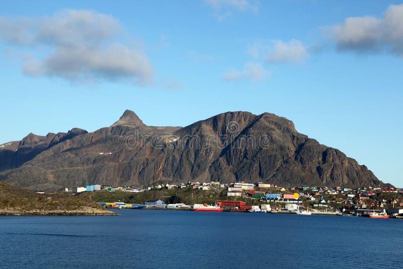 Sisimiut em Gronelândia fotografia de stock