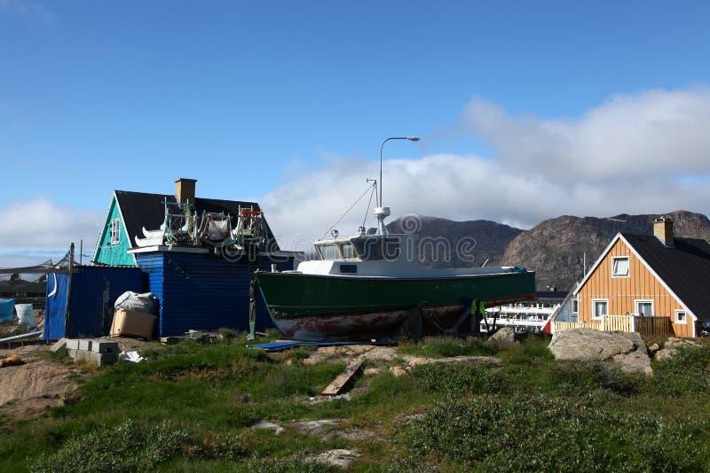 Sisimiut em Gronelândia foto de stock royalty free