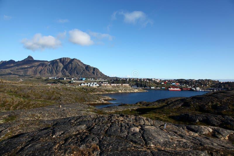 Sisimiut em Gronelândia foto de stock