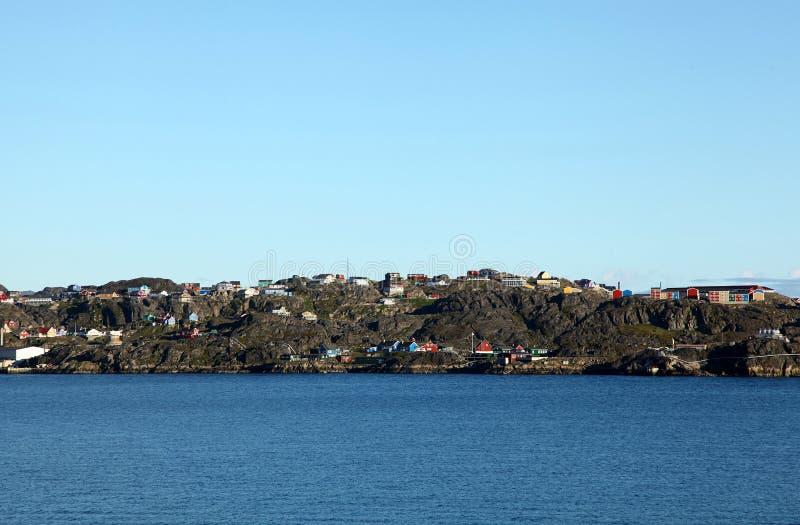 Sisimiut em Gronelândia fotografia de stock royalty free