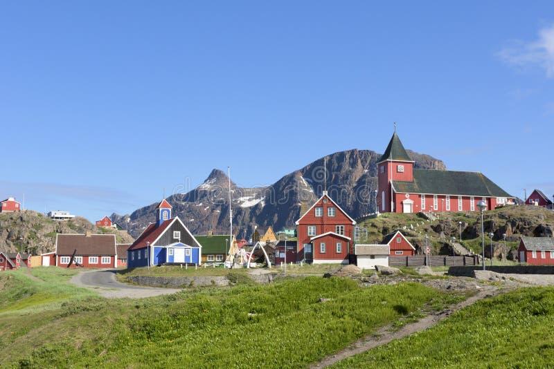 Sisimiut, Groenland stock fotografie