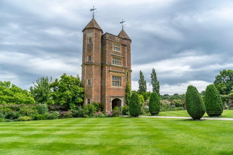 Sissinghursttuinen in de provincie van Kent in Engeland royalty-vrije stock afbeelding