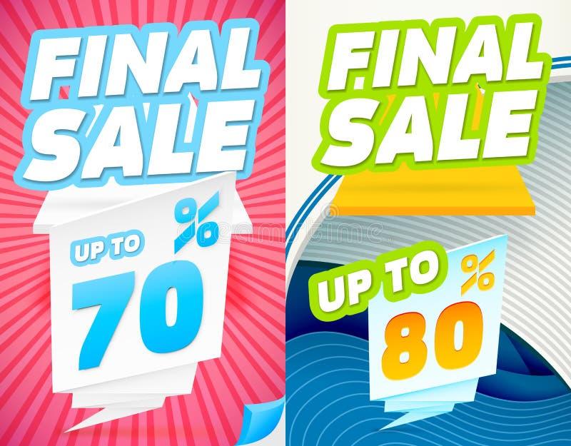 Sista försäljningsbaner vektor illustrationer
