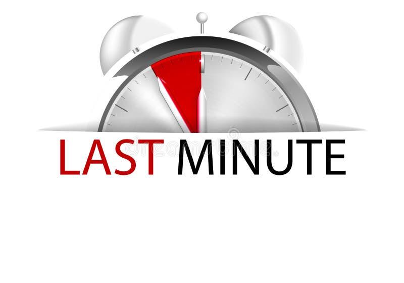 Sista minuten vektor illustrationer