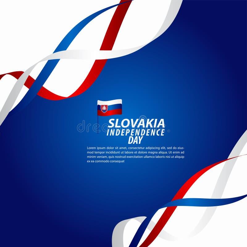 Sistani dnia niepodległości świętowania szablonu projekta Wektorowa ilustracja ilustracji