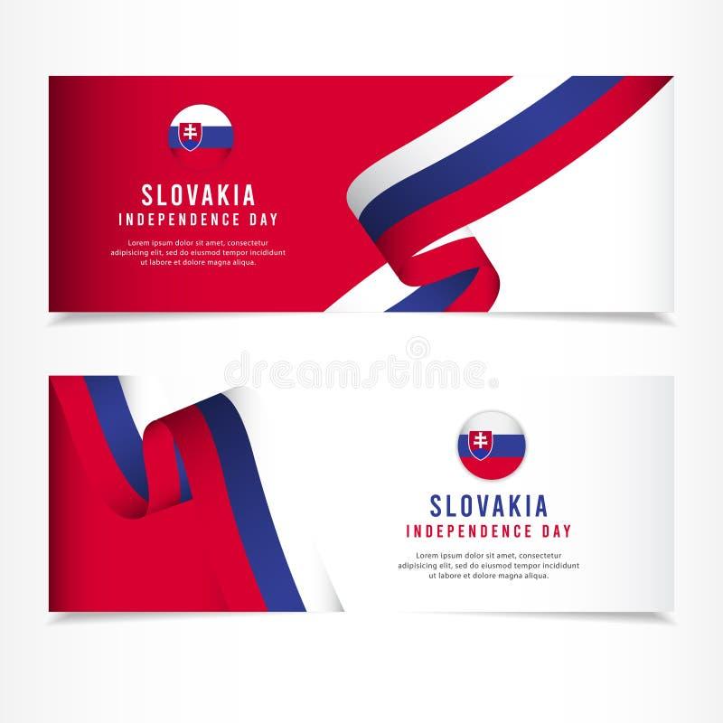 Sistani dnia niepodległości świętowanie, sztandaru ustalonego projekta szablonu Wektorowa ilustracja ilustracji