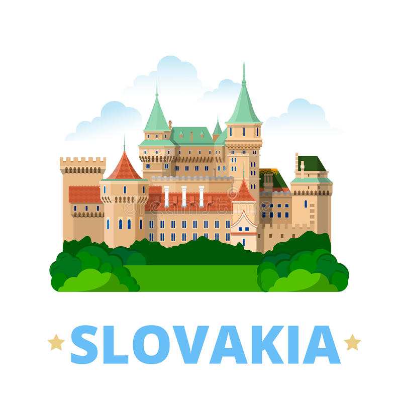 Sistani kraju projekta szablonu kreskówki Płaski styl ilustracji
