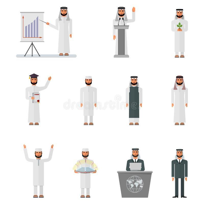 Sistema árabe del hombre ilustración del vector