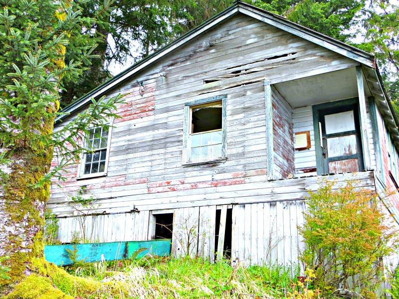 Sistema abandonado del granero en el bosque fotos de archivo libres de regalías