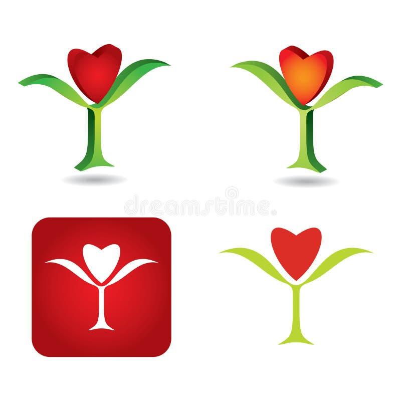 Sistema abstracto de la flor libre illustration