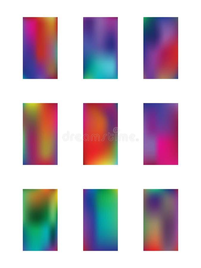 Sistema abstracto de los ejemplos del fondo de la textura ilustración del vector