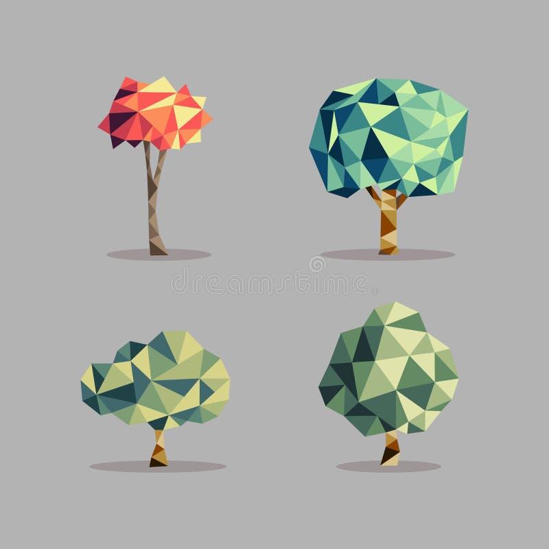 Sistema abstracto del árbol del triángulo stock de ilustración