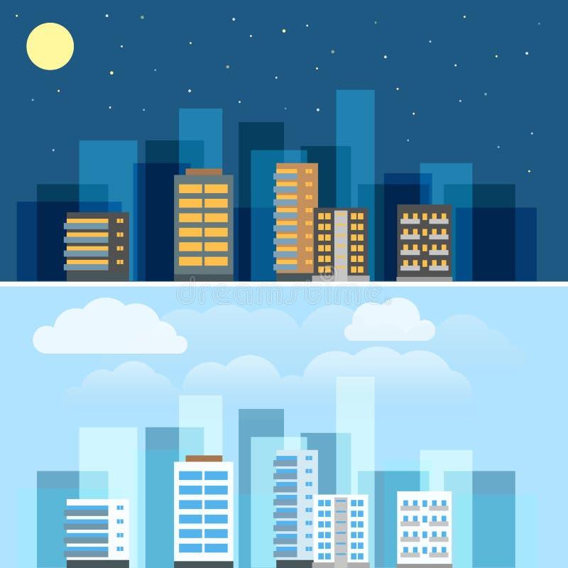 Sistema abstracto del ejemplo de los edificios de la ciudad libre illustration