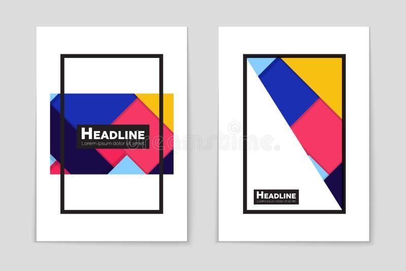 Sistema abstracto del fondo de la disposición Para el diseño de la plantilla del arte, lista, página, estilo del tema del folleto stock de ilustración