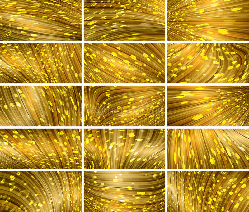 Sistema abstracto del fondo del bokeh stock de ilustración