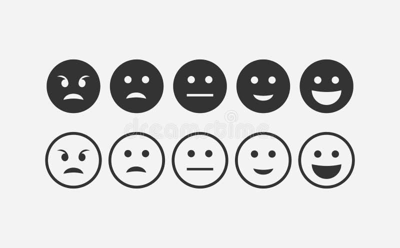 Sistema abstracto del icono del emoji de la reacción libre illustration