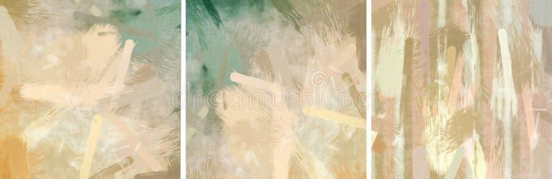 Sistema abstracto del papel pintado de la mancha ilustración del vector