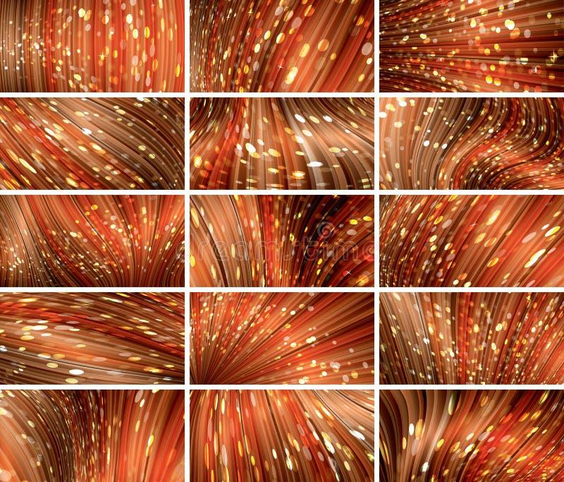 Sistema abstracto rojo del fondo del bokeh quince libre illustration