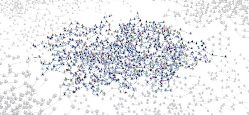 Sistema acodado de la muchedumbre de la historieta, de par en par local ilustración del vector