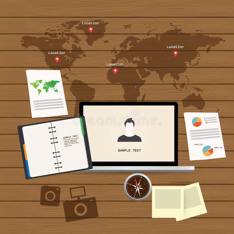 Sistema adaptante y responsivo del icono del diseño web fotografía de archivo