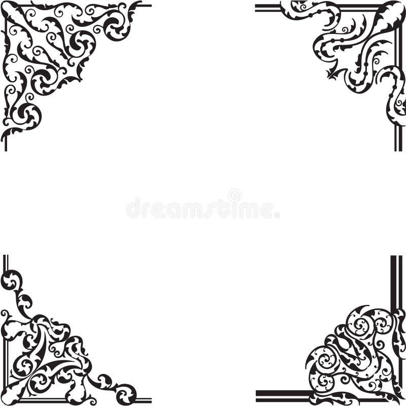 Sistema adornado de la esquina libre illustration