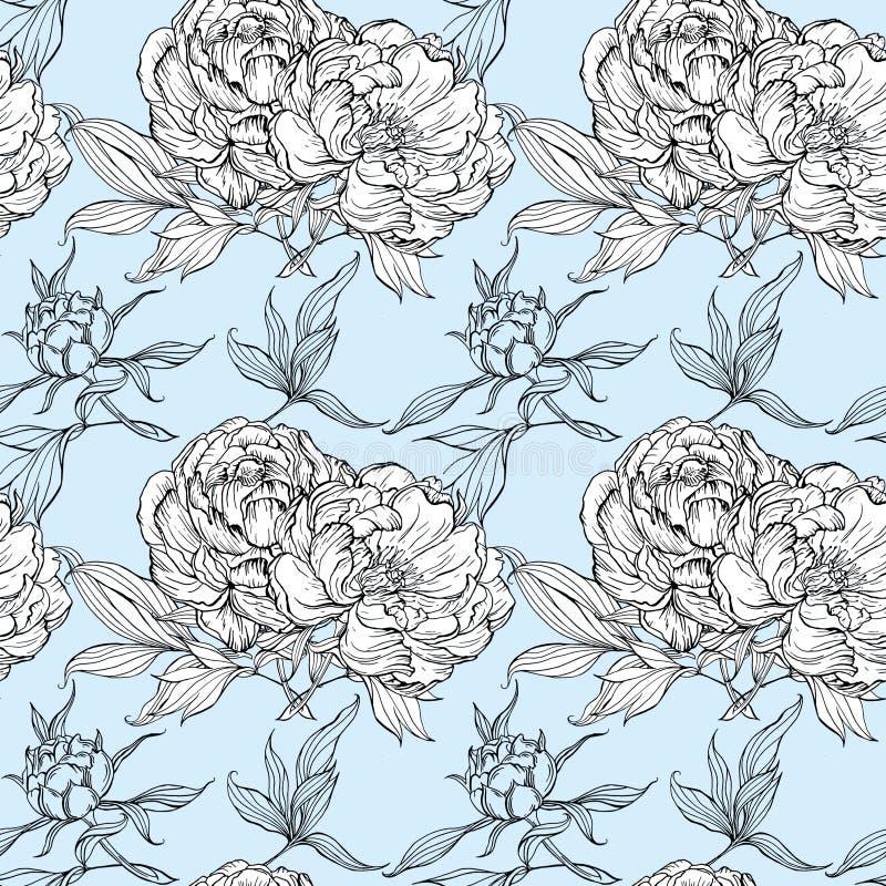 Sistema aislado de brotes y de hojas de la magnolia libre illustration