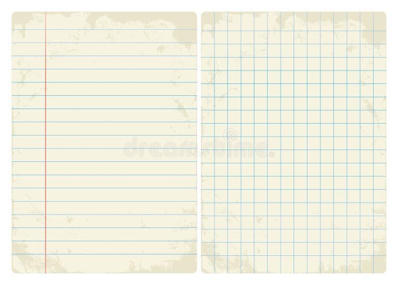 Sistema alineada y del gráfico del vintage del papel stock de ilustración