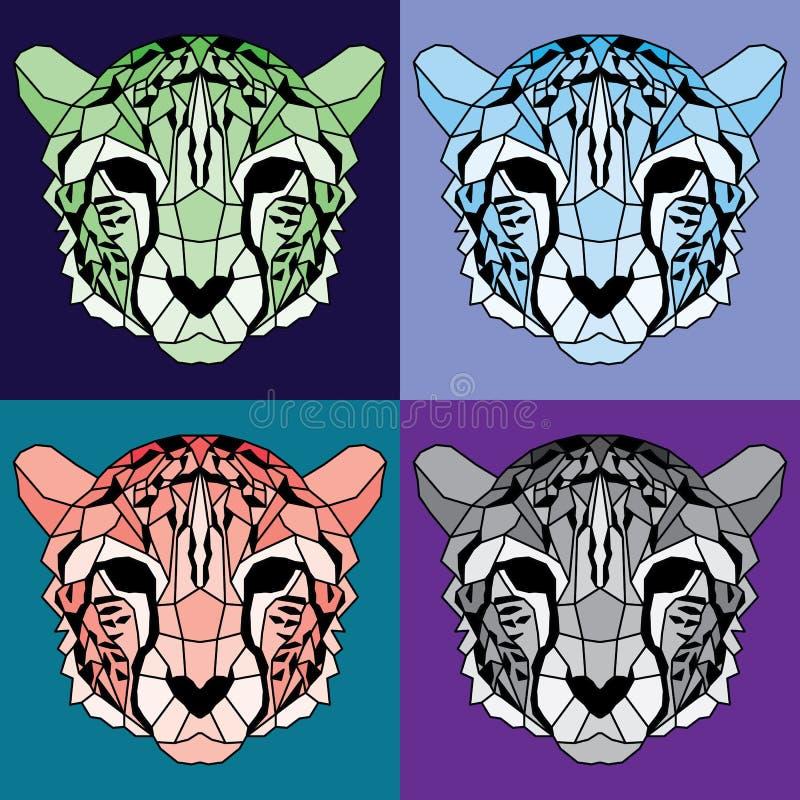 Sistema alineado polivinílico bajo del guepardo libre illustration