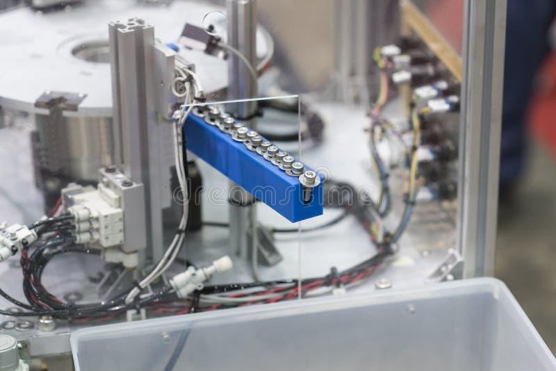 Sistema a alta tecnologia di automazione per la fabbrica industriale di aut fotografia stock libera da diritti