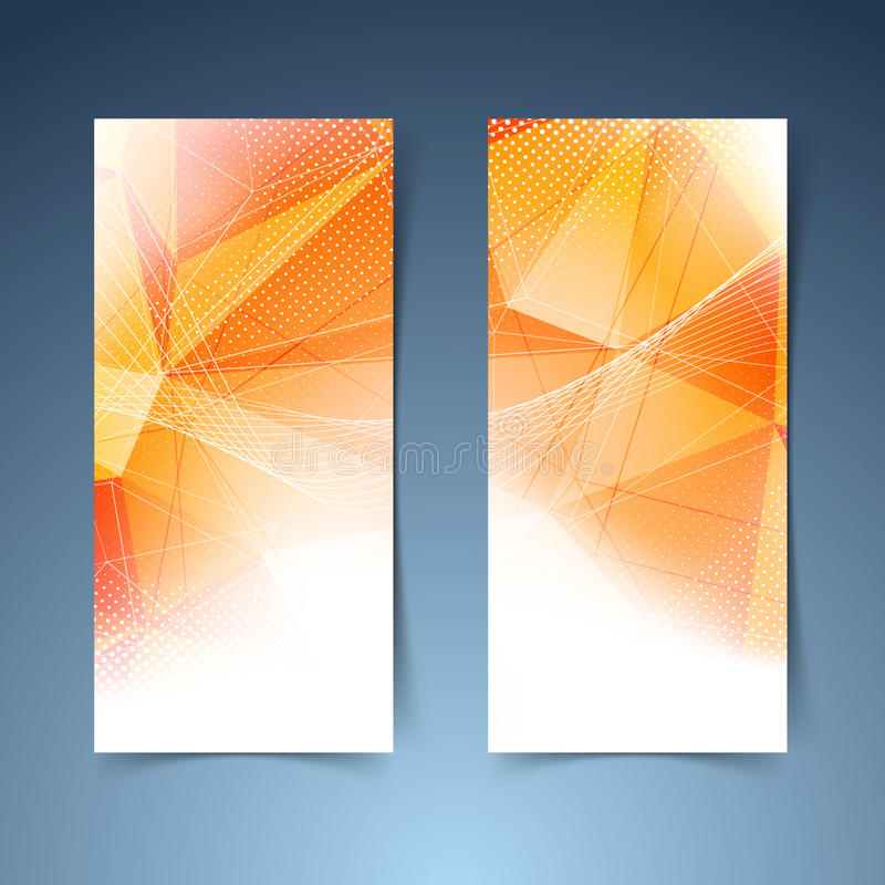 Sistema anaranjado brillante de la bandera de la estructura cristalina ilustración del vector
