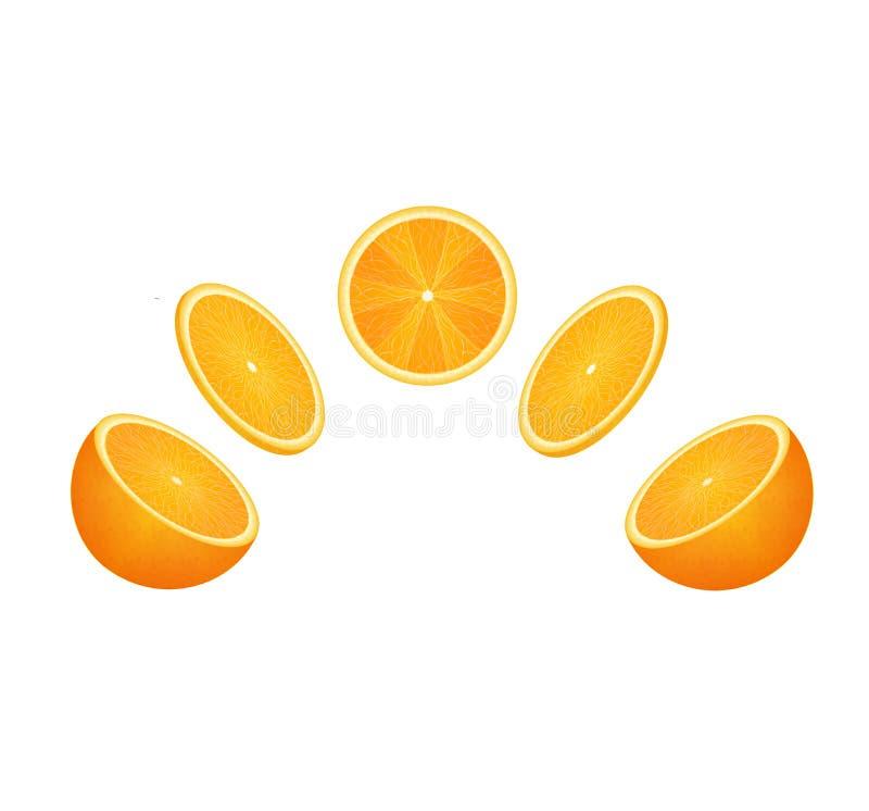 Sistema anaranjado de la fruta fotos de archivo libres de regalías