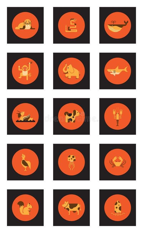 Sistema animal del icono imagen de archivo