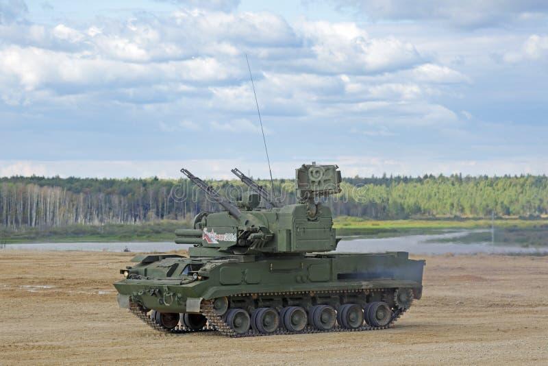 Sistema antiaéreo Tunguska del arma-misil imágenes de archivo libres de regalías