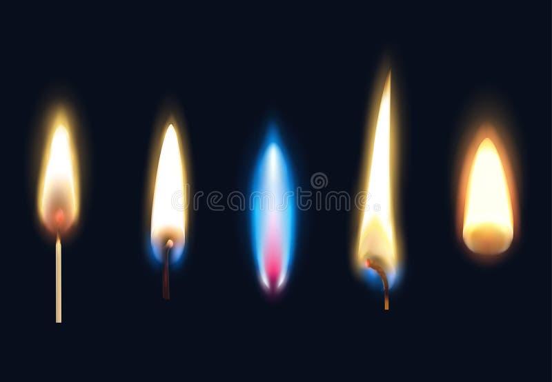 Sistema ardiente realista de las llamas libre illustration