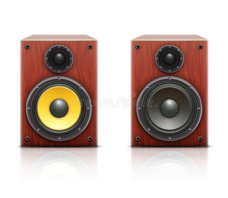 Sistema audio de alta fidelidade alto ilustração stock