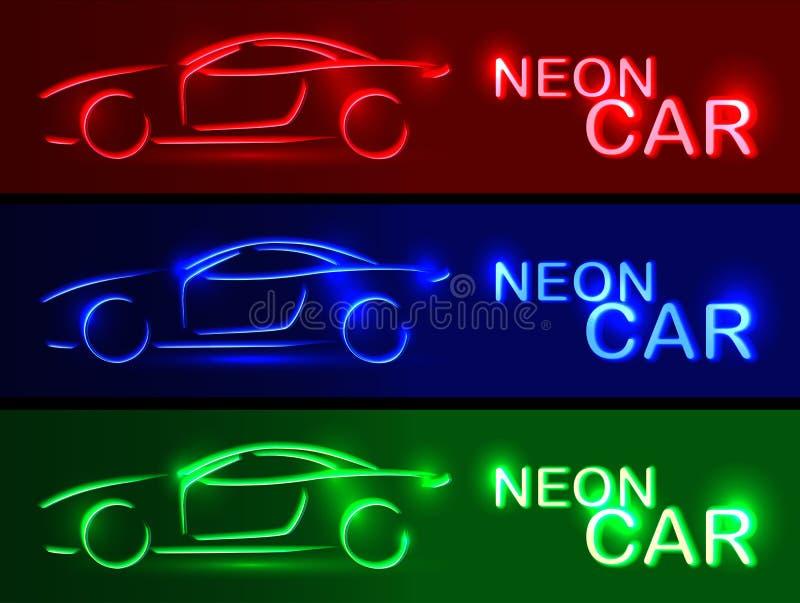 SISTEMA azul de neón del coche País del movimiento del color de los busines del Internet del Web del recorrido del planeta de la  ilustración del vector