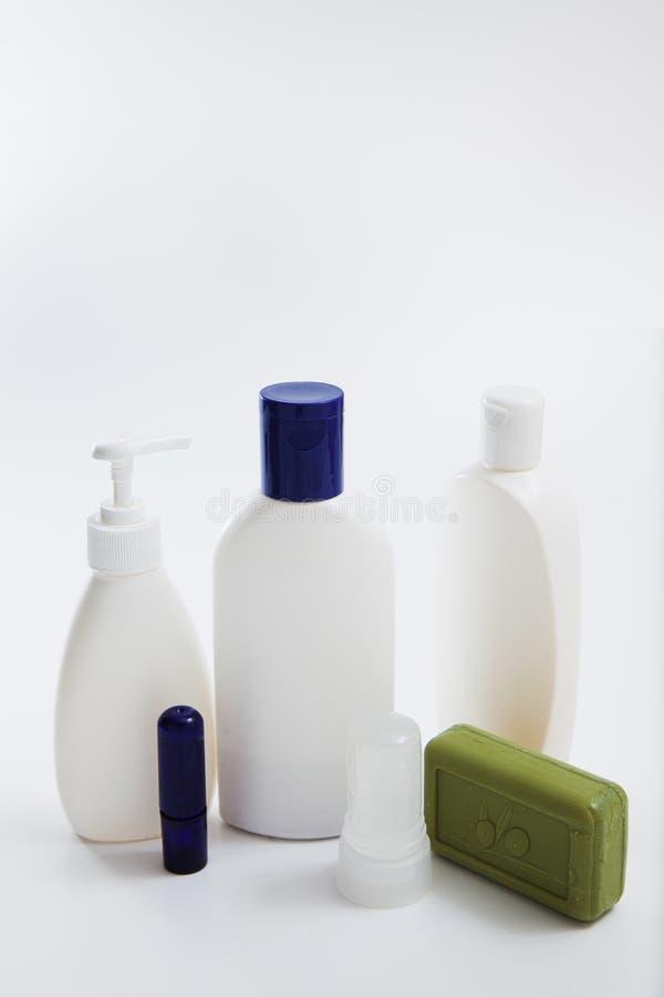Sistema blanco en blanco de la maqueta del diseño de la plantilla del tubo imágenes de archivo libres de regalías