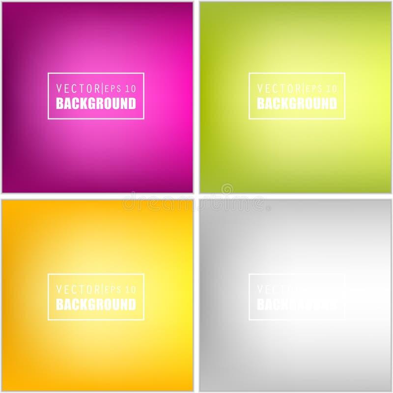 Sistema borroso multicolor del fondo del vector creativo abstracto del concepto Para el web y las aplicaciones móviles, ejemplo d ilustración del vector