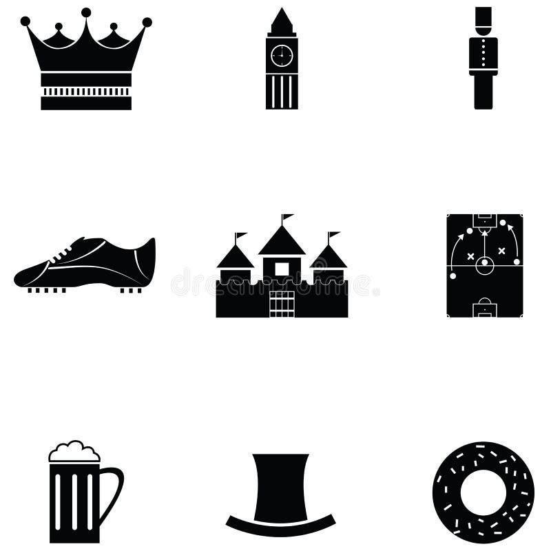 Sistema BRITÁNICO del icono ilustración del vector
