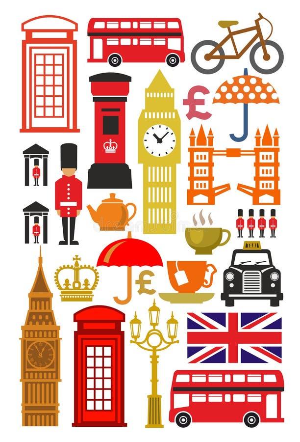 Sistema británico del icono stock de ilustración