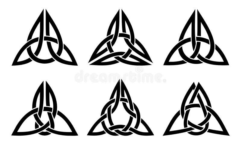 Sistema céltico del nudo de la trinidad fotografía de archivo