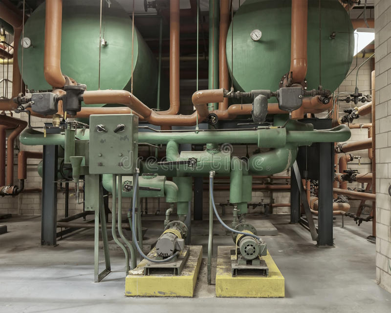 Sistema caliente del bombeo de agua imágenes de archivo libres de regalías