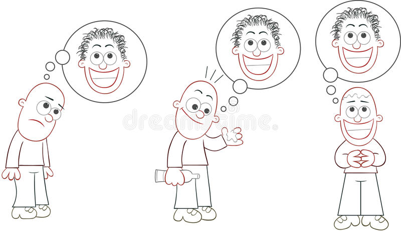 Sistema calvo del hombre libre illustration